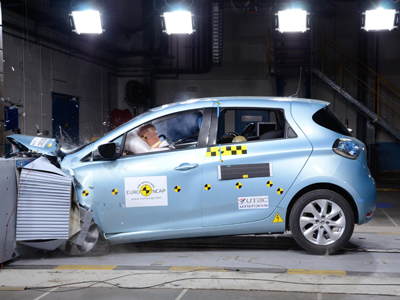 renault zoe meilleure citadine en 2013 selon euro ncap. Black Bedroom Furniture Sets. Home Design Ideas