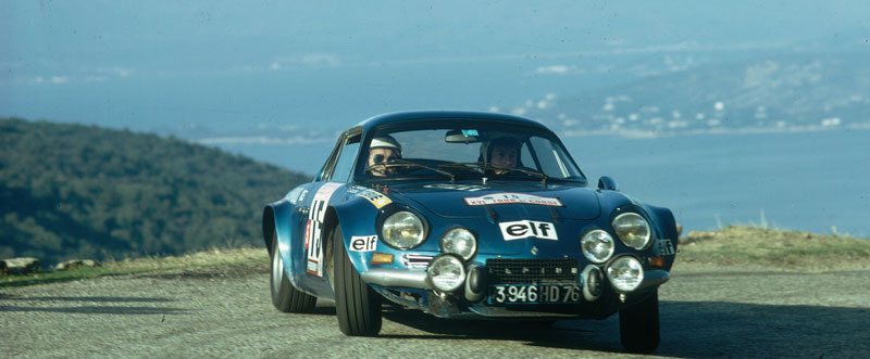 Berlinette Alpine a110 tour de corse 1973