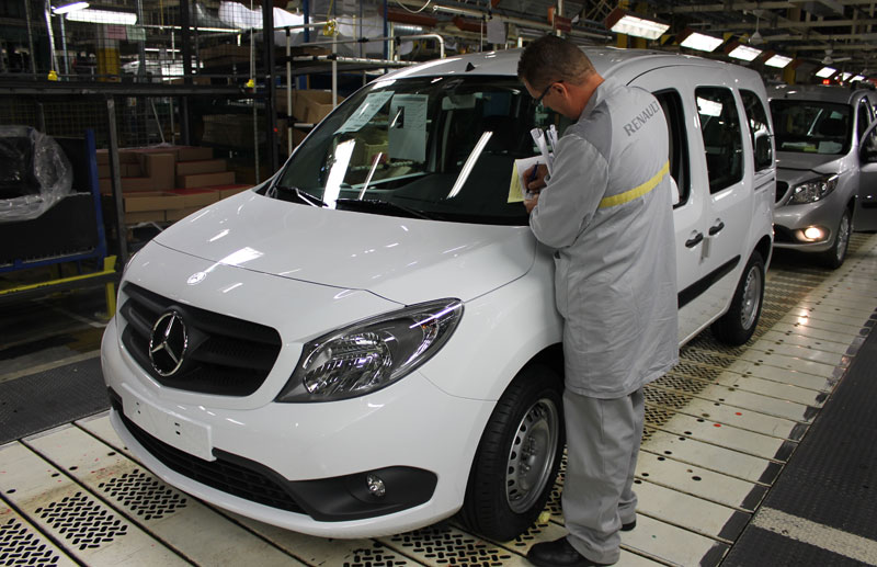 Mercedes Citan produced at Renault's Maubeuge plant in France