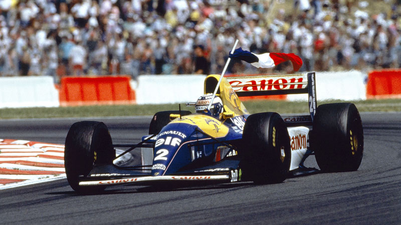 F1 1993 French Grand Prix Alain Prost FW15 Williams Renault