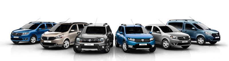 The Dacia range in 2013