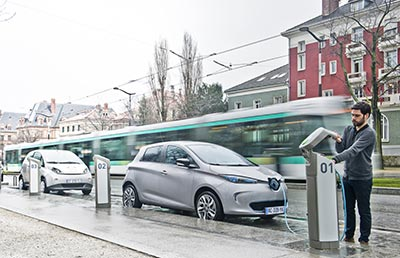 Electric vehicles are perfect for car-sharing