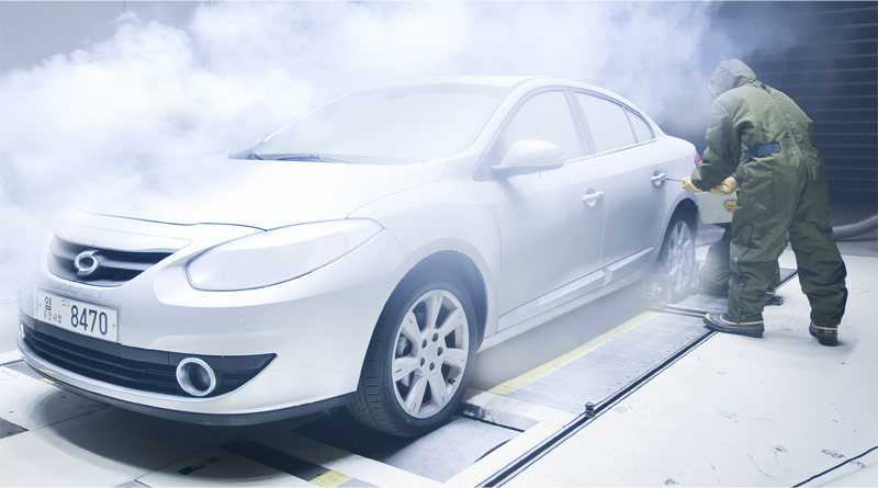 Renault Samsung Motors SM3 in aeroclimatic testing at RSM's technical center