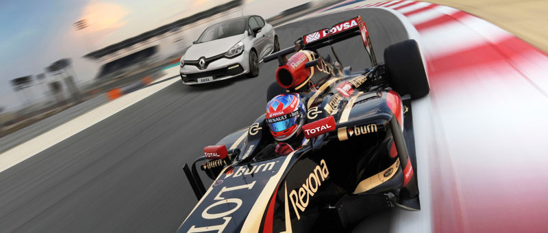 Clio R.S. 200 EDC limited edition Monaco GP and Lotus F1 Team Romain Grosjean 2014 Bahrain