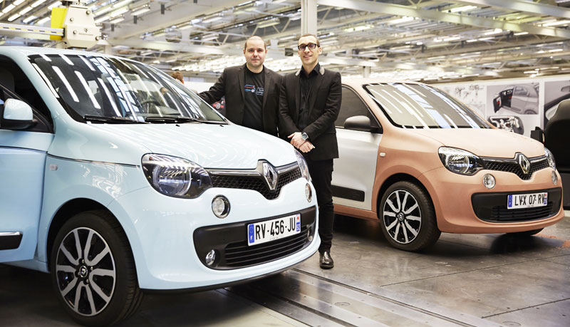 Renault Twingo 2014 designers, Linari and Wittinger