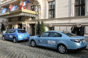 Nissan Leaf and Renault Fluence Z.E. cars