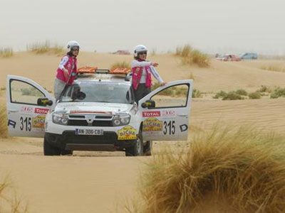 """Rallye Aïcha des Gazelles"", our gazelles are taking to ..."