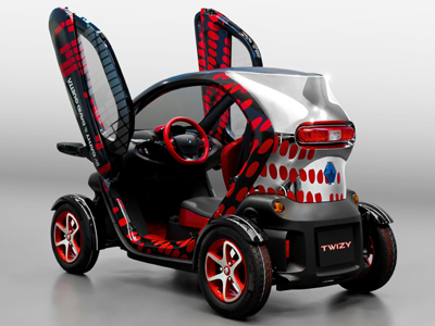 twizy by cathy david guetta a show car full of positive energy groupe renault. Black Bedroom Furniture Sets. Home Design Ideas