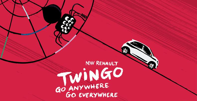 Publicité Nouvelle Twingo signée Kuntzel et Deygas
