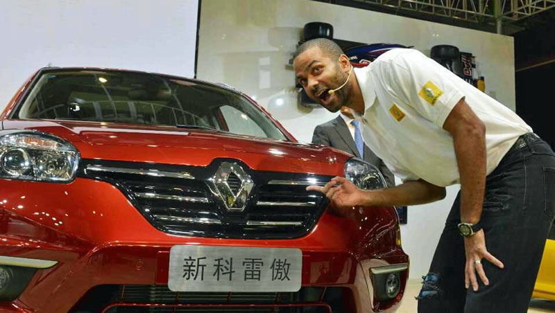 Tony Parker and Renault Koleos Sport Way in Chengdu