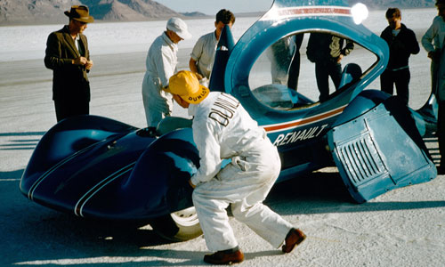 Etoile Filante Renault à Bonneville, USA en 1956