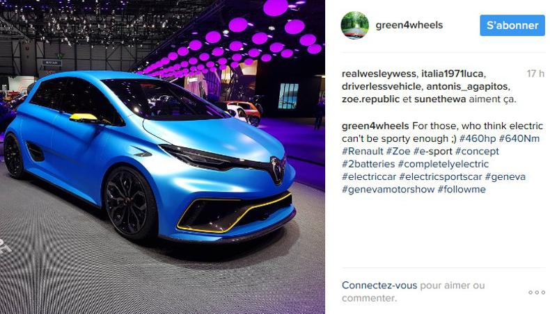 2017 Citadine éléctrique Renault Zoe