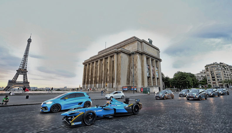 paris eprix renault electrifies the french capital groupe renault. Black Bedroom Furniture Sets. Home Design Ideas