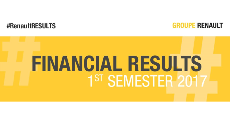 2017 - Groupe Renault - Resultats financiers S1 - Financial results H1 - primary