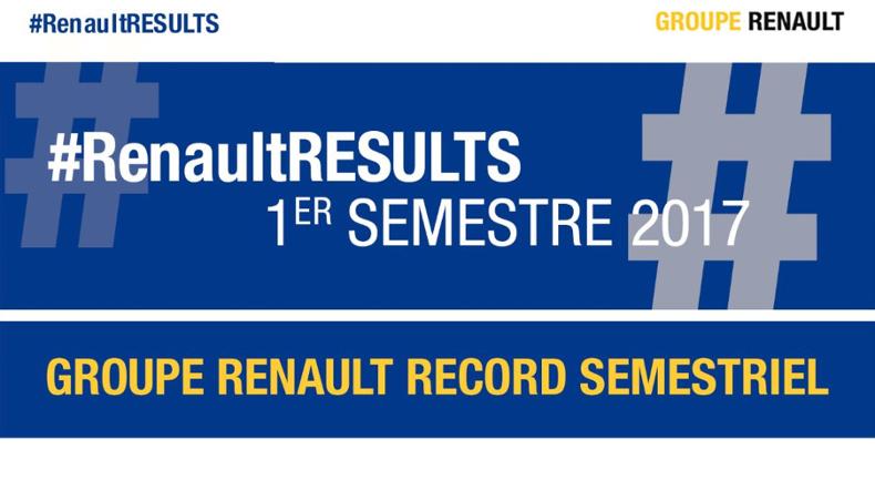 2017 - Groupe Renault - Résultats commerciaux monde premier semestre - Record
