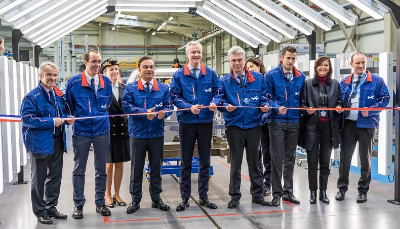 Inauguration of new Alpine A110 production line in Dieppe