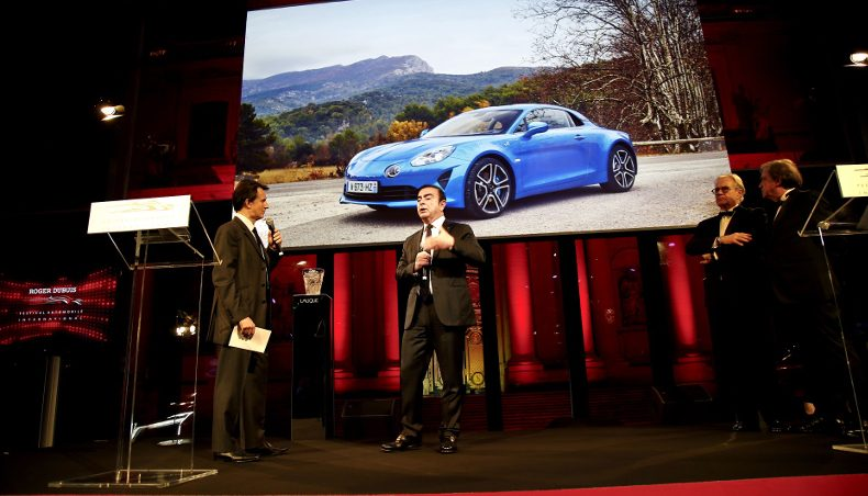 2018 - Alpine A110 - Carlos GHOSN - CEO Groupe Renault - Award FAI