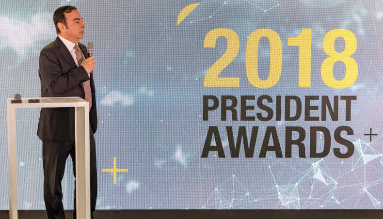 2018 - President Awards - Carlos GHOSN - CEO - Groupe Renault