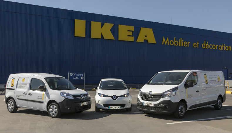 2018 - Renault Mobility – IKEA - gamme vehicule - Kangoo Z.E. - ZOE - Master Z.E.