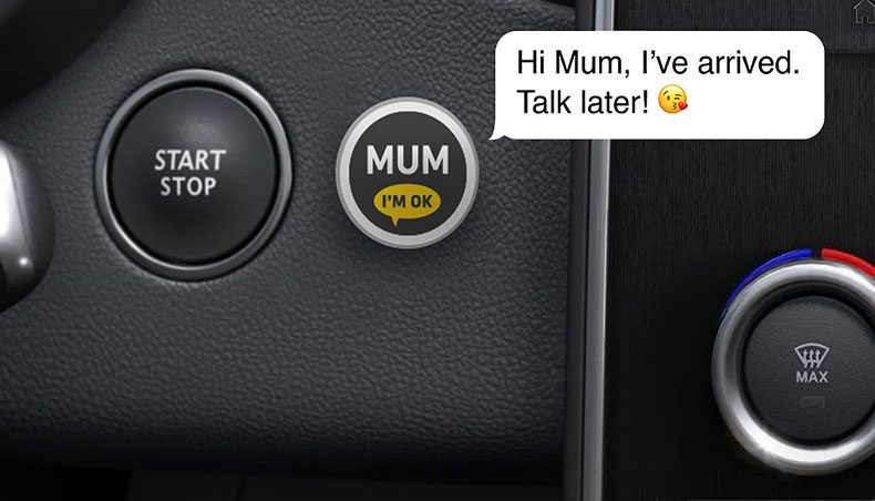"""MUM BUTTON"" the connected button to reassure parents"