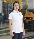 Portrait of Georgiana Mutu, age 34, production workshop manager in engine assembly at the Pitesti plant (Romania), where she manages over 260 men and women.