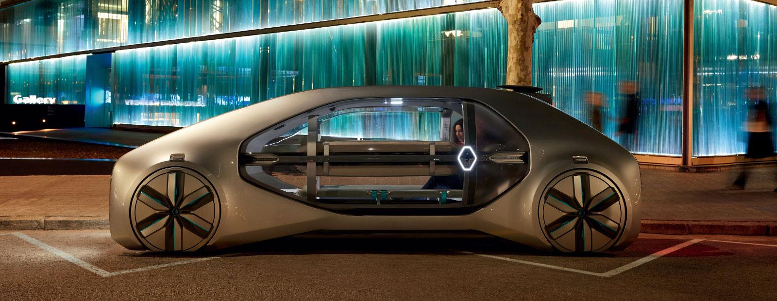2018 - Renault EZ-GO, Concept-Car, en situation dans la ville