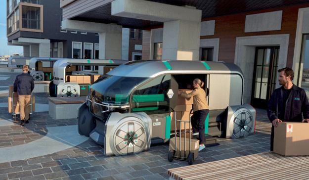 2018 - Renault EZ-PRO le concept-car Renault en situation de livraison