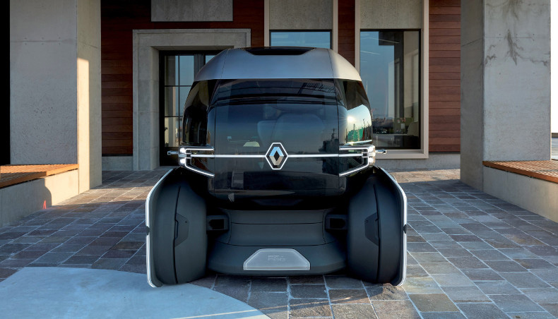 Renault EZ-PRO Concept-Car 2018 in static situation - down a building - Last Mile Delivery solution