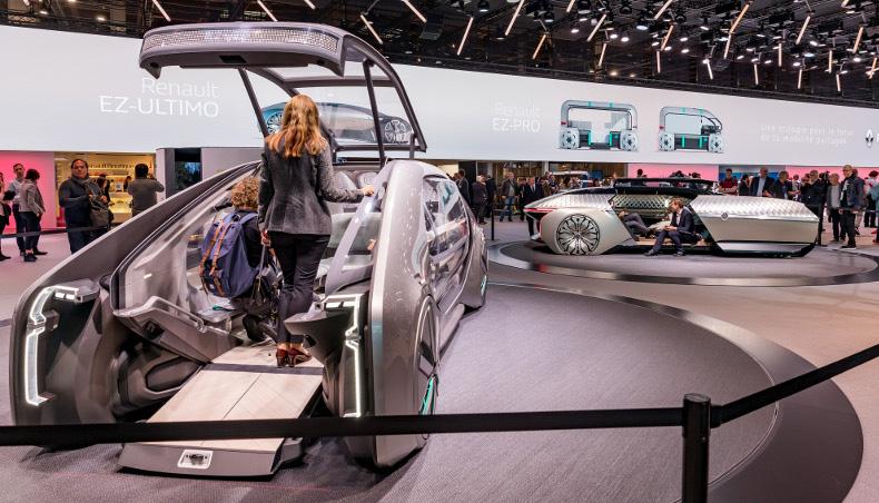 Stand Renault EZ-PRO et EZ-ULTIMO au mondial de Paris 2018