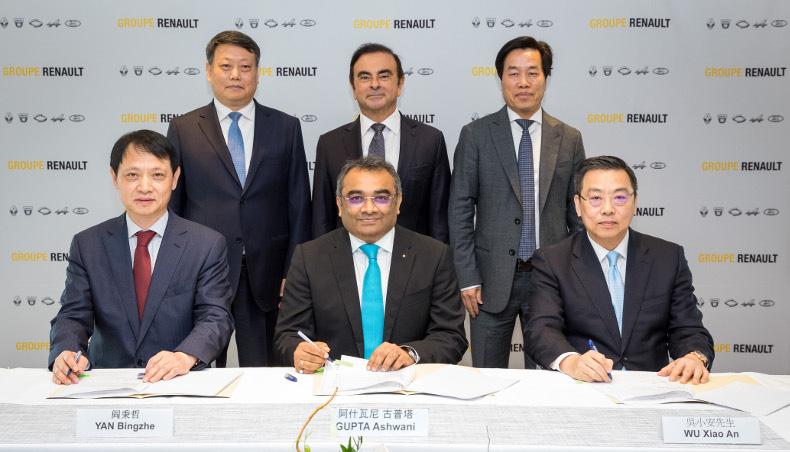 Renault et Brilliance signent un accord de coopération stratégique avec la province de Liaoning, Chine