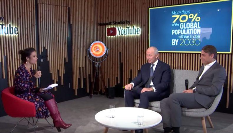Studio YouTube au Mondial de Paris 2018 avec Thierry Bolloré et Laurens van den Acker