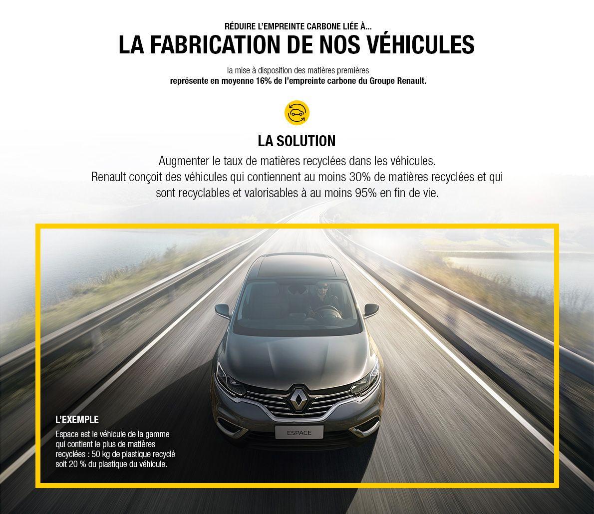 Réduire l'empreinte carbone liée à la fabrication de nos véhicules