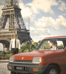 Renault 120 years with Renault 5 in front of the Eiffel tower