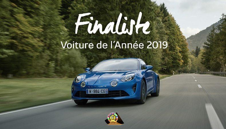 Alpine A110 parmi les 7 finalistes pour la voiture de l'année 2019