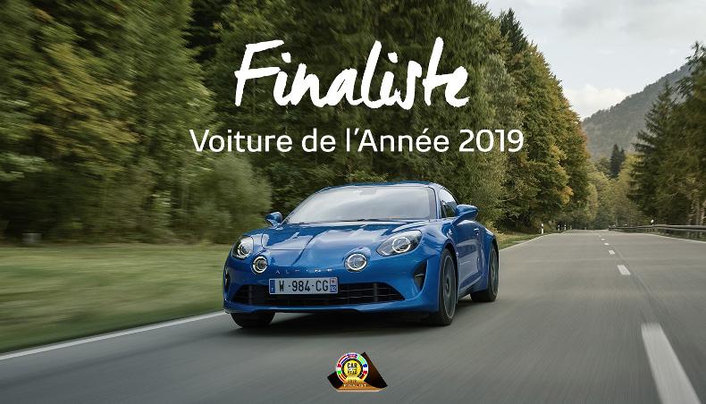 Alpine A110 vue de face - Finaliste de la voiture de l'année 2019
