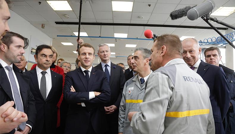 2018 - Usine Renault de Maubeuge avec Emmanuel Macron