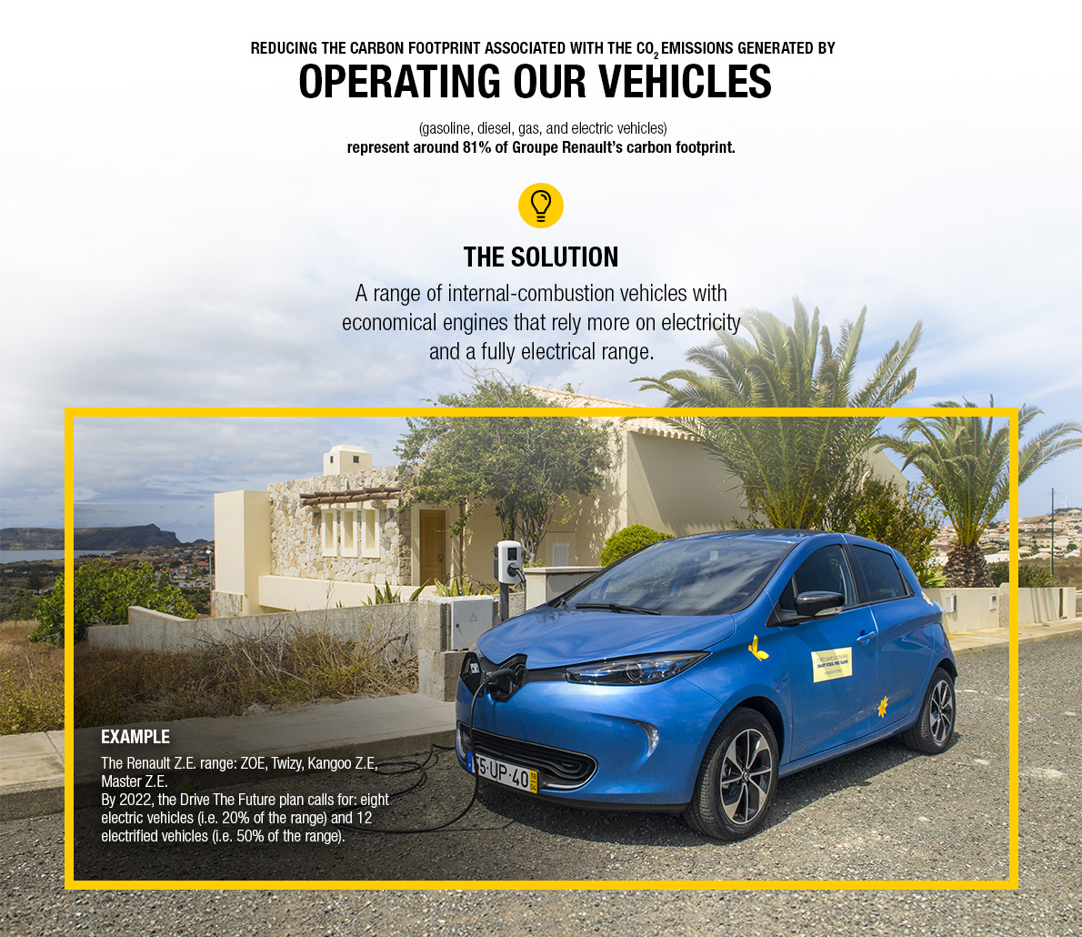 By operating our vehicles