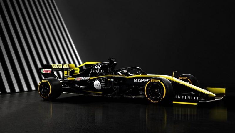 Renault F1 team unveils its Renault R.S.19 single seater