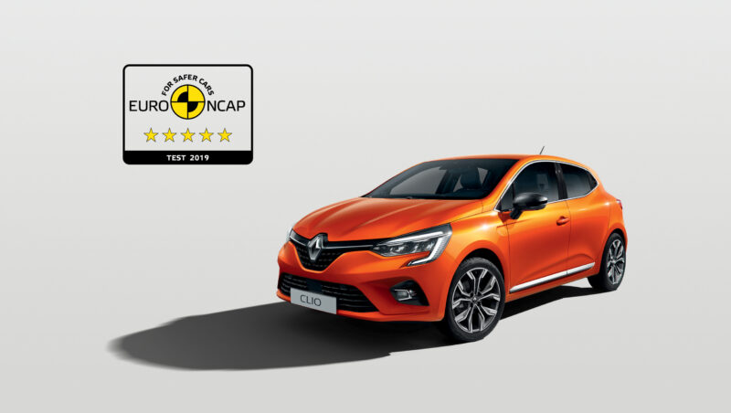 Safety: 5 Euro NCAP stars for the New Clio