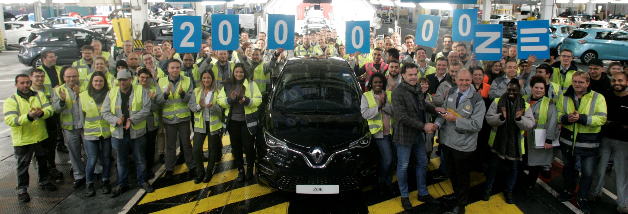 Renault's Flins factory passes new milestone: 200,000 ZOEs produced!