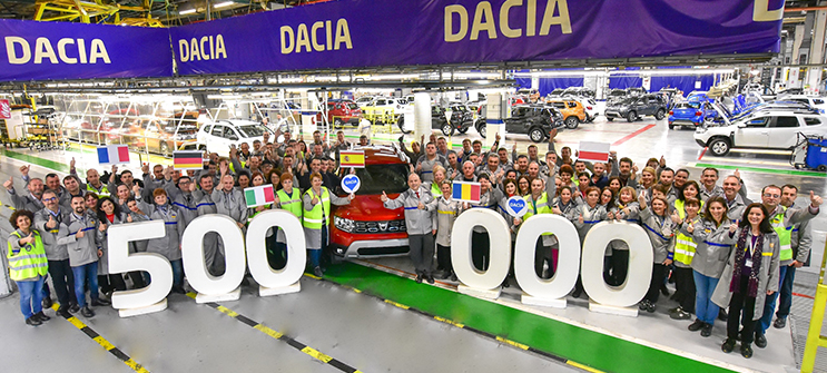 The Pitesti plant celebrates the production of the 500,000th New Duster