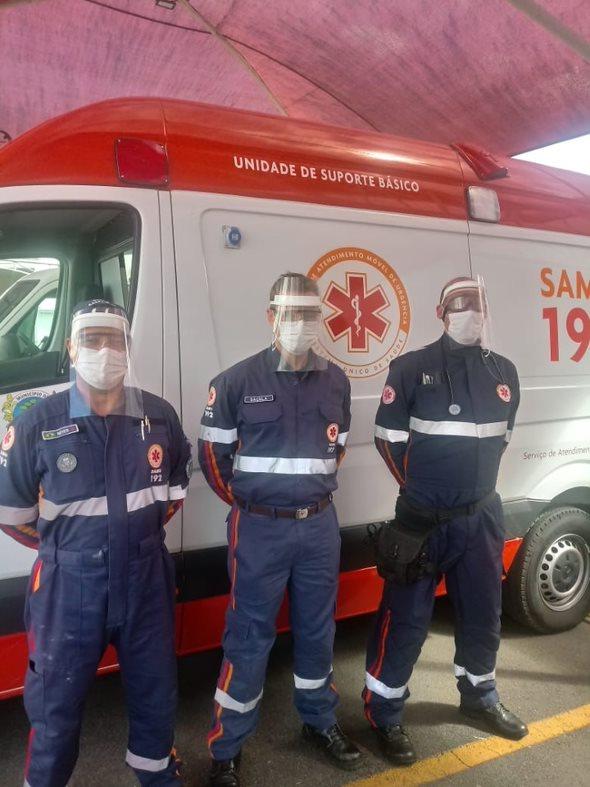 Firefighters in Brazil