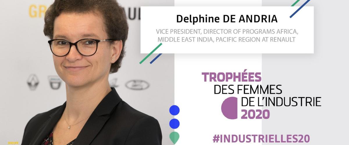 Trophées des femmes de l'Industrie: Delphine de Andria consacrée «femme internationale» de l'année