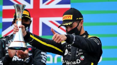 First podium for Renault DP World F1 Team since its return to F1 with Daniel Ricciardo at the Eifel Grand Prix