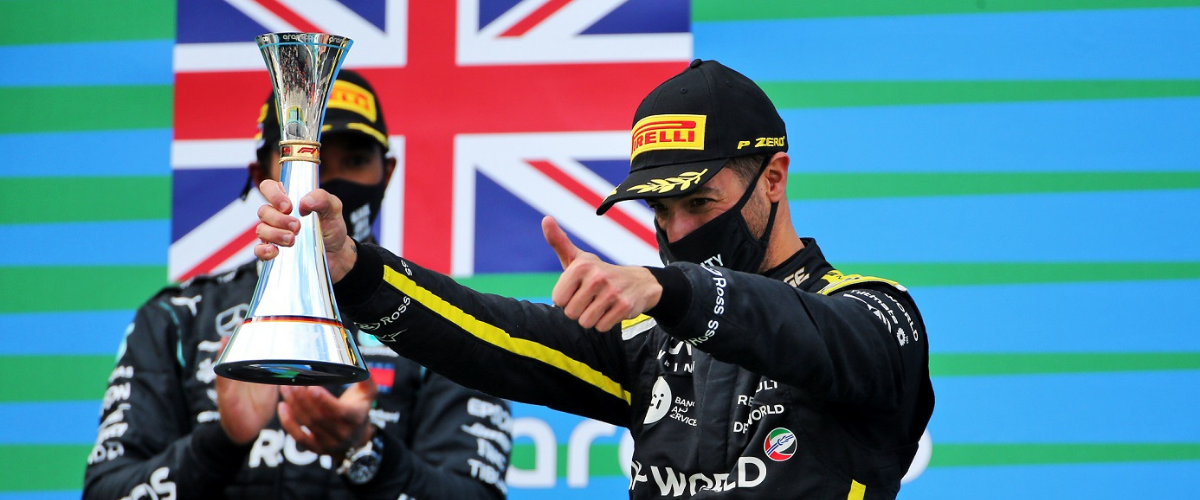First podium for Renault DP World F1 Team since its return to F1 with Daniel Ricciardo at the Eifel Grand Prix.
