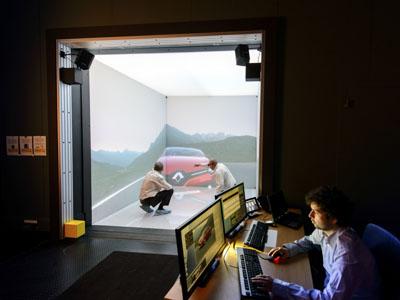 SIMULATEUR 3D CAVE - ENVIRONNEMENT IMMERSIF DE REALITE VIRTUELLE