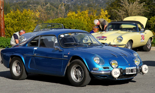 An Alpine A110 Took Part In The 1001 Nights Classic Rally