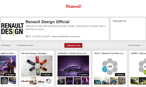 Pinterest blog corps
