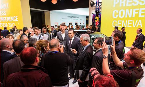 Conférence de presse Renault au salon de Genève 2014