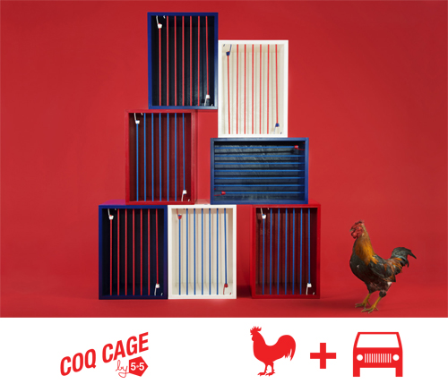 La Coq Cage de l'exposition So French à l'Atelier Renault